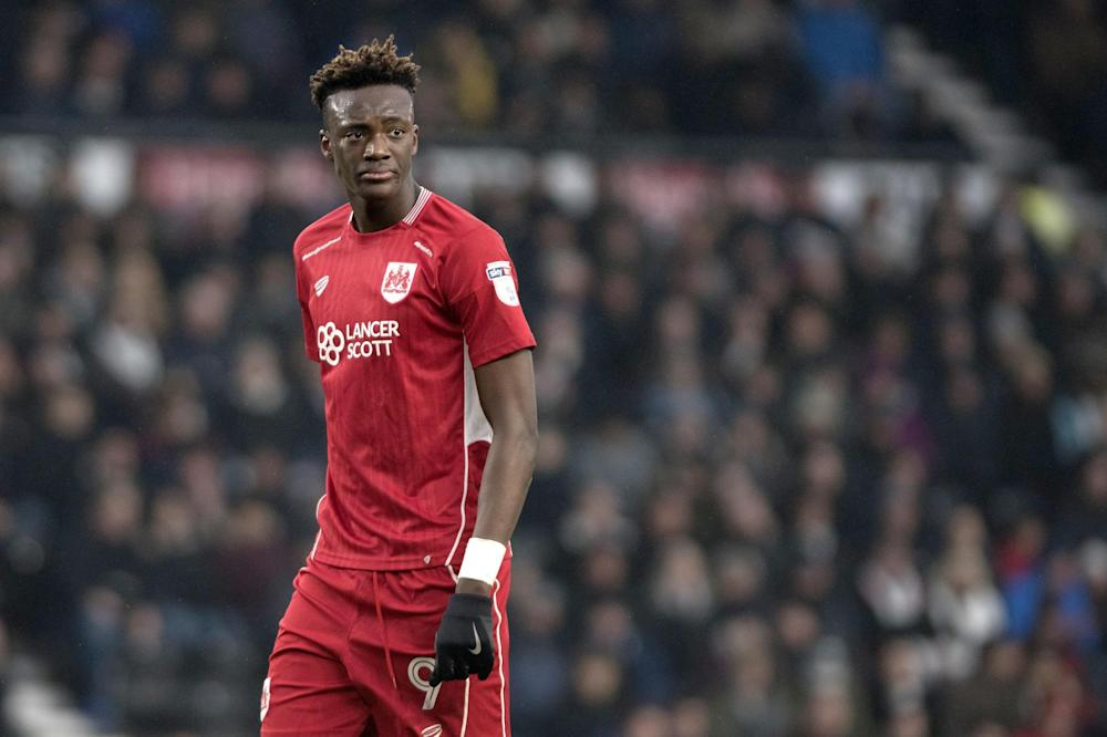 Star: Chelsea's Tammy Abraham has scored 18 Championship goals at Bristol City this season: Getty Images