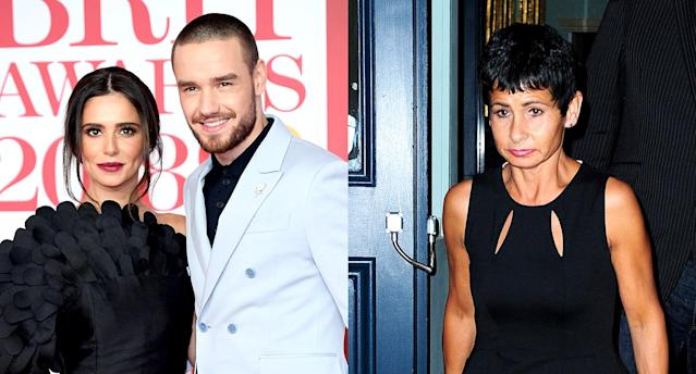 Cheryl Cole and Liam Payne, left; Cole's mother, Joan Callaghan, right. (Photo: Getty Images)