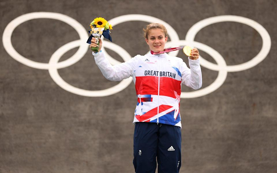 Bethany Shriever - From riding a second-hand bike to winning Olympic gold – Bethany Shriever's mother says BMX star proves 'normal' kids can win - GETTY IMAGES