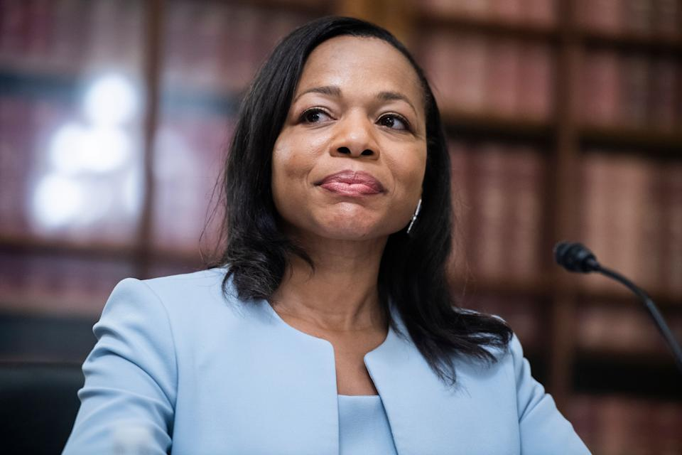 Kristen Clarke, seen here testifying in 2020, has come under attack from right-wing commentators. (Photo: Tom Williams via Getty Images)