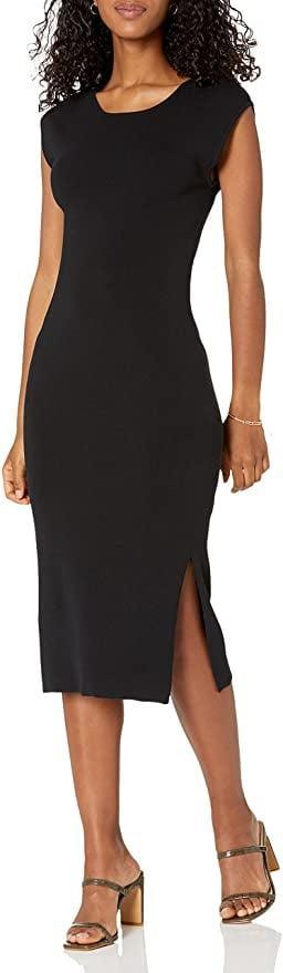 <p>This <span>The Drop Laila Power Shoulder Twist-Back Midi Sweater Dress</span> ($55) exudes easy elegance and effortless confidence. The short of it? It's the perfect little black dress.</p>