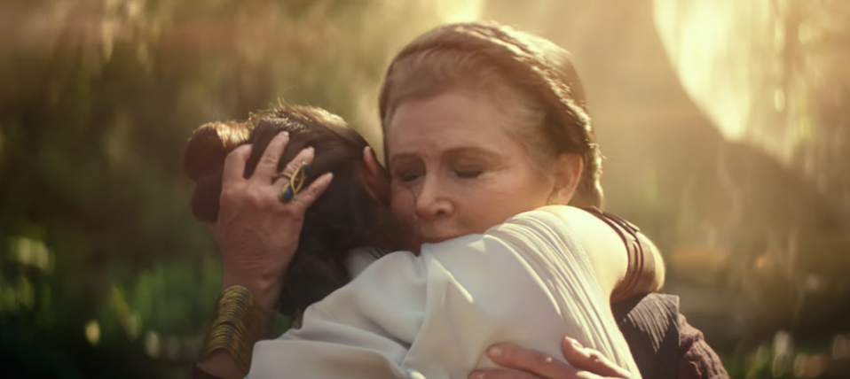 Carrie Fisher's final film appearance, comprising unused shots from 'The Force Awakens,' will come in 'The Rise of Skywalker.' (Photo: Lucasfilm)