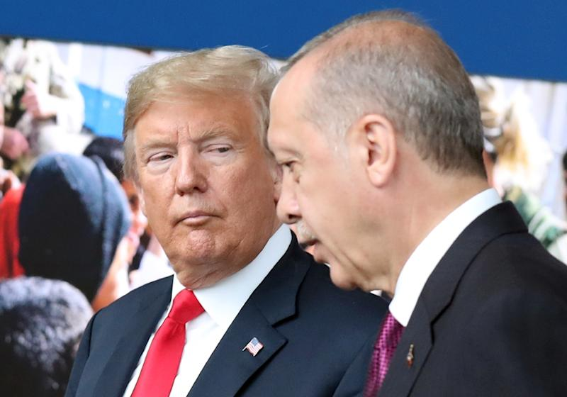 US President Donald Trump and Turkish counterpart Recep Tayyip Erdogan are at odds over the fate of an American pastor detained in Turkey