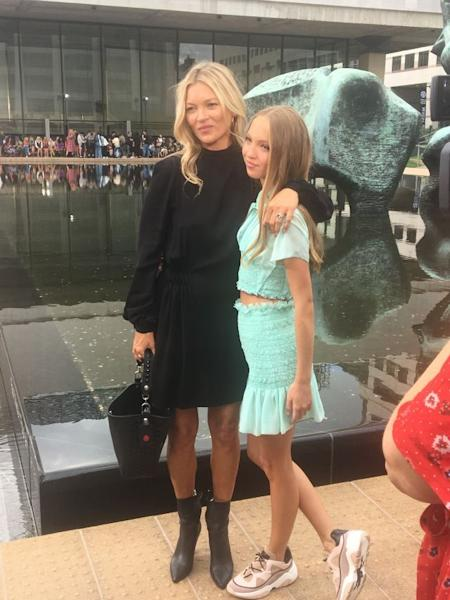 Kate Moss and daughter Lila Grace at the Longchamp show in New York