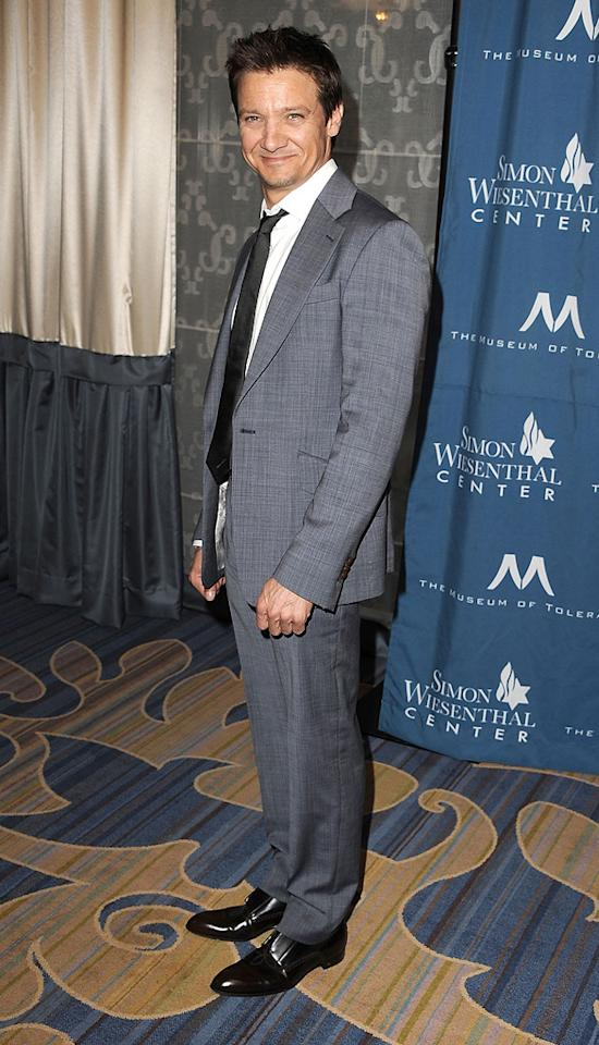 """<a href=""""http://movies.yahoo.com/movie/contributor/1804495026"""">Jeremy Renner</a> attends the 2011 Wiesental Center National Tribute Dinner In Honor Of Tom Cruise in Los Angeles on May 5, 2011."""