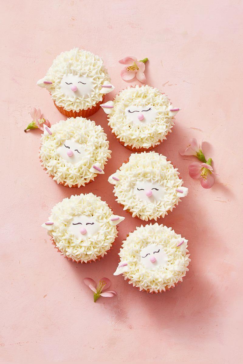 "<p>These cute-as-can-be cupcakes are decorated with entirely edible decor.</p><p><em><a href=""https://www.goodhousekeeping.com/food-recipes/dessert/a30981808/sheep-cupcake-recipe/"" rel=""nofollow noopener"" target=""_blank"" data-ylk=""slk:Get the recipe for Sheep Cupcakes »"" class=""link rapid-noclick-resp"">Get the recipe for Sheep Cupcakes »</a></em></p><p><strong>RELATED</strong>: <a href=""https://www.goodhousekeeping.com/holidays/easter-ideas/g883/spring-cupcakes/"" rel=""nofollow noopener"" target=""_blank"" data-ylk=""slk:27 Easy Easter Cupcakes That Are Almost Too Cute to Eat"" class=""link rapid-noclick-resp"">27 Easy Easter Cupcakes That Are Almost Too Cute to Eat</a></p>"