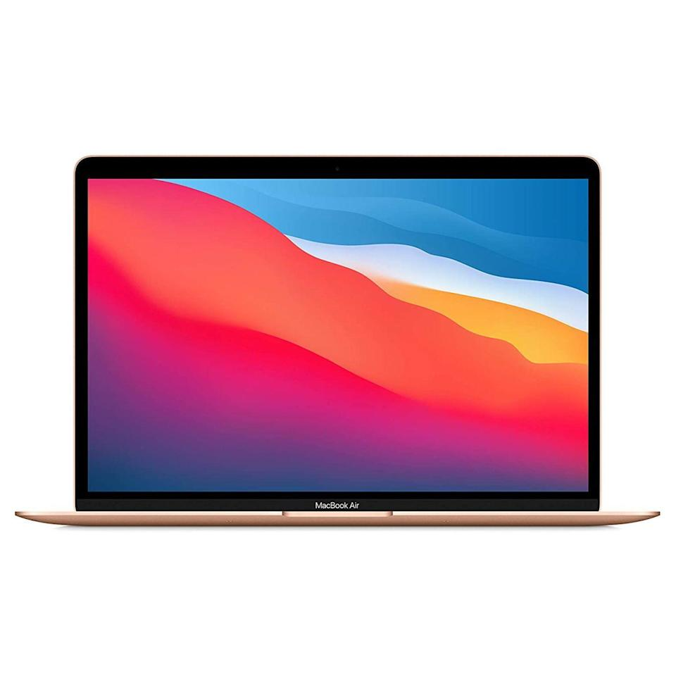 """<p><strong>Apple</strong></p><p>amazon.com</p><p><strong>$899.00</strong></p><p><a href=""""https://www.amazon.com/dp/B08N5M7S6K?tag=syn-yahoo-20&ascsubtag=%5Bartid%7C2089.g.2681%5Bsrc%7Cyahoo-us"""" rel=""""nofollow noopener"""" target=""""_blank"""" data-ylk=""""slk:Shop Now"""" class=""""link rapid-noclick-resp"""">Shop Now</a></p><p><strong>Key Specs</strong></p><p><strong>• <strong>CPU:</strong> </strong>Apple M1 chip<br><strong>• </strong><strong>Display:</strong> 13.3-inch Retina display (2,560 by 1,600 pixels)<br><strong>• </strong><strong>Memory:</strong> 8GB of RAM, 256GB SSD<br><strong>• </strong><strong>Battery Life:</strong> Up to 18 hours<br></p><p>The MacBook Air with with an <a href=""""https://www.bestproducts.com/tech/a34631928/one-more-thing-apple-event-november-2020/"""" rel=""""nofollow noopener"""" target=""""_blank"""" data-ylk=""""slk:Apple M1 chip"""" class=""""link rapid-noclick-resp"""">Apple M1 chip</a> is hands down our favorite laptop for college students. It is lightweight (it weighs less than 3 pounds), timelessly elegant, effortlessly powerful, and, starting below $1,000, reasonably priced. It has a fantastic keyboard and trackpad, a superb Retina display, and insane battery life of up 18 hours between charges.</p><p>Like all things Apple, the notebook comes with an outstanding selection of <a href=""""https://www.bestproducts.com/tech/electronics/g2286/apple-macbook-and-macbook-pro-accessories/"""" rel=""""nofollow noopener"""" target=""""_blank"""" data-ylk=""""slk:original and third-party accessories"""" class=""""link rapid-noclick-resp"""">original and third-party accessories</a>. If you plan to use the notebook for demanding tasks like graphic design projects, consider the slightly pricier <a href=""""https://www.amazon.com/dp/B08N5N6RSS?tag=syn-yahoo-20&ascsubtag=%5Bartid%7C2089.g.2681%5Bsrc%7Cyahoo-us"""" rel=""""nofollow noopener"""" target=""""_blank"""" data-ylk=""""slk:13-inch MacBook Pro with an M1 chip"""" class=""""link rapid-noclick-resp"""">13-inch MacBook Pro with an M1 chip</a>. It has more graphics power and even longer battery lif"""