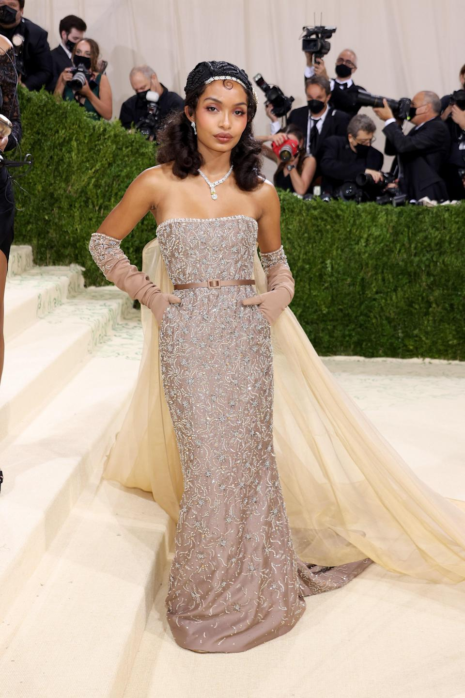 """<h1 class=""""title"""">Yara Shahidi, The 2021 Met Gala Celebrating In America: A Lexicon Of Fashion - Arrivals</h1><cite class=""""credit"""">Getty</cite>"""