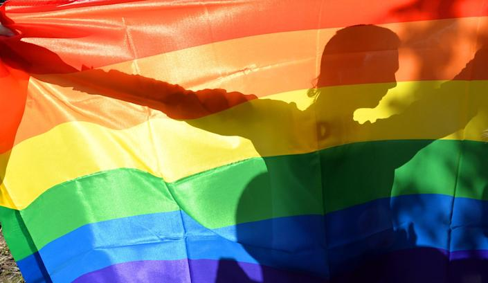 <p>The rainbow LGBTQ Pride flag can now fly over US embassies once again, thanks to a directive from the State Department</p> (AFP via Getty Images)