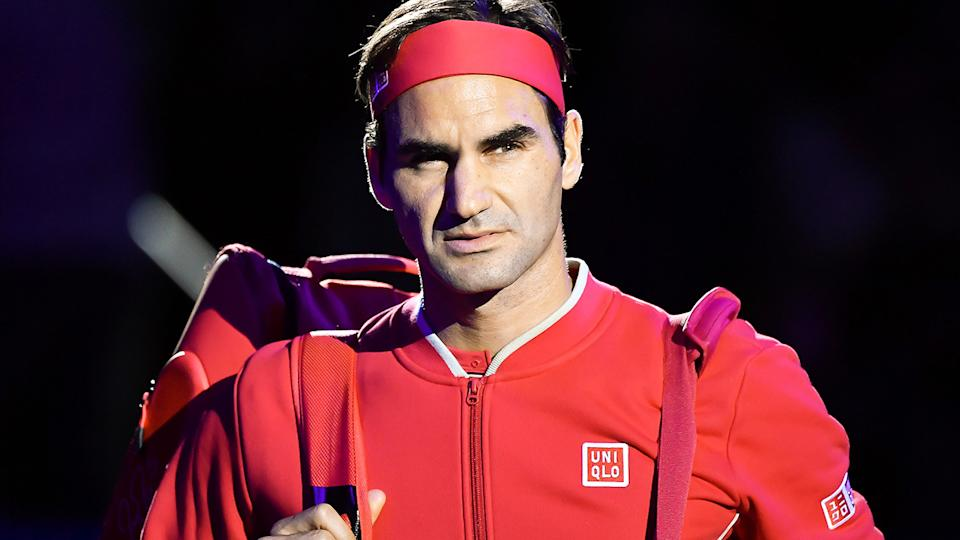 Roger Federer, pictured here at the Swiss Indoors event in Basel in 2019.