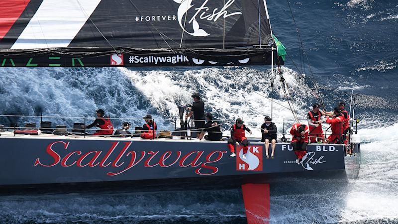 A collision with a shark scuppered Scallywag's hopes of a podium finish in the 2019 Sydney to Hobart.