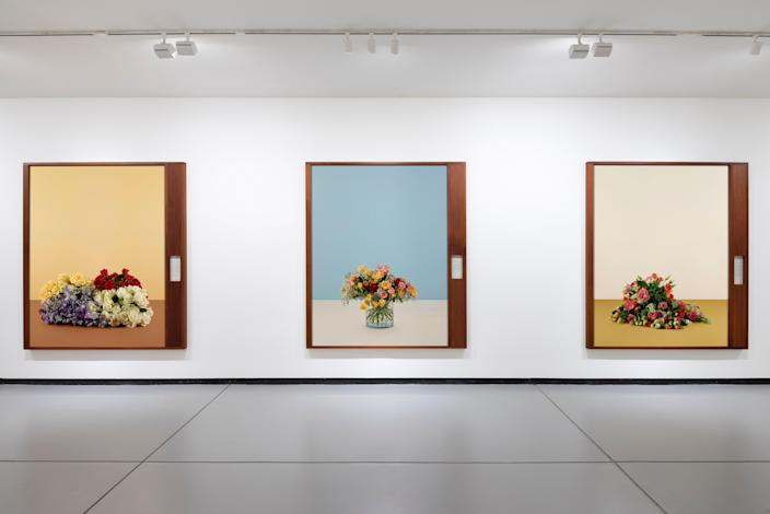 Inside the famed Baldwin Gallery, featuring three works by Taryn Simon from her 2019 exhibition: Paperwork and The Will of Capital.