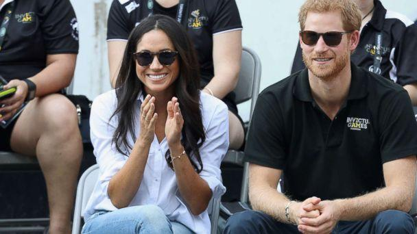 PHOTO: Meghan Markle and Prince Harry attend a Wheelchair Tennis match during the Invictus Games 2017 at Nathan Philips Square, Sept. 25, 2017, in Toronto. (Chris Jackson/Getty Images)