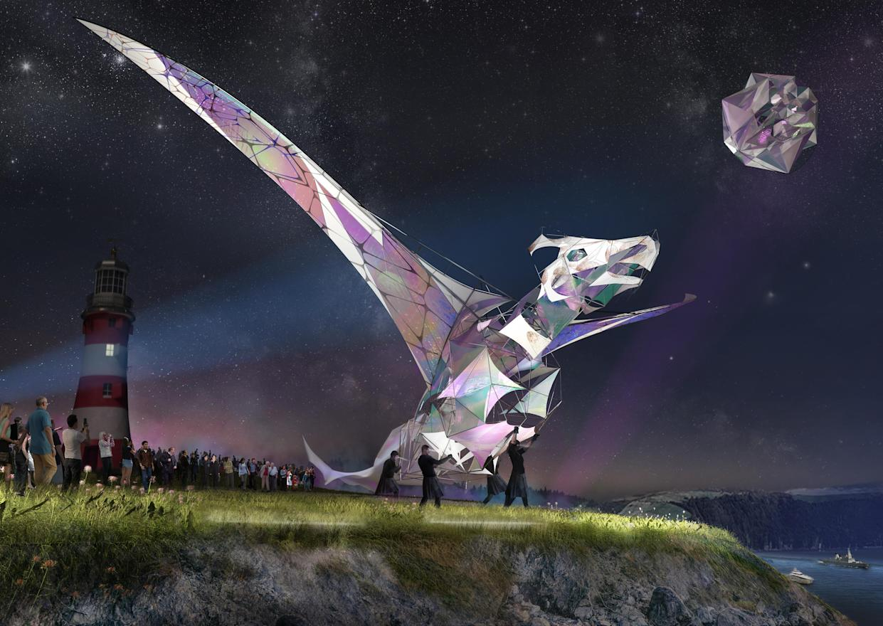 The Hatchling, a dragon taller than a double-decker bus, will be a big part of the pageant. (Trigger)
