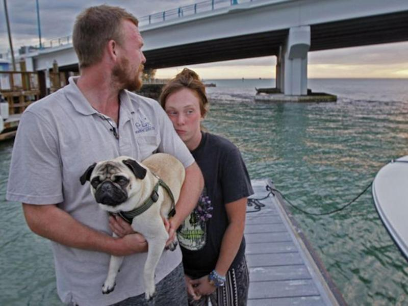 The pair have been left with just their two-year-old dog Remy and a few personal items: AP