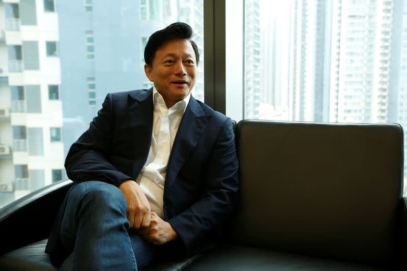 Charles Wong, one of the founders of the Bauhinia Party, Hong Kong's newest political party, photographed in his office in Hong Kong
