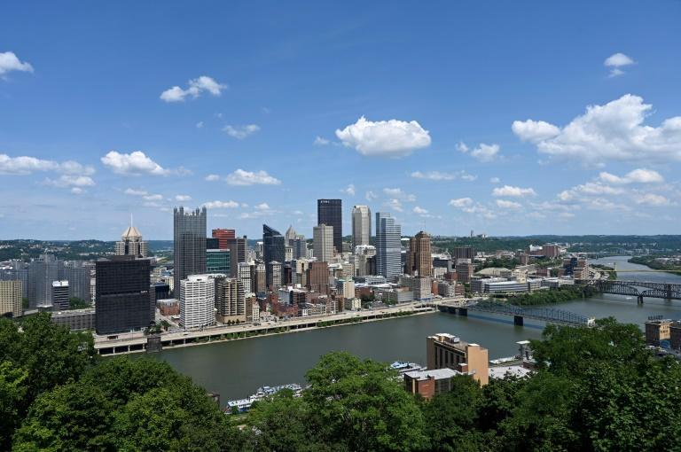 Once home of the mighty American steel industry, Pittsburgh will host the US-EU Trade and Technology Council meeting (AFP/Daniel SLIM)