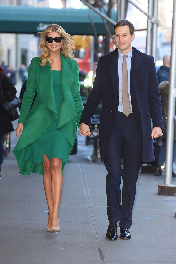 Ivanka Trump and Jared Kushner are off to Washington DC for tomorrow's Presidential Inauguration in NYC.