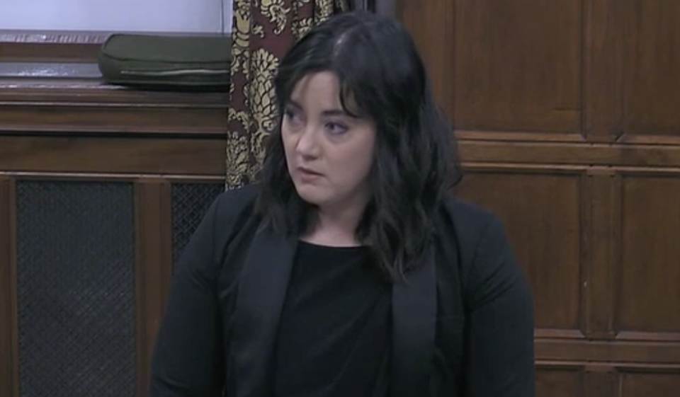 Labour MP Sarah Owen said Conservative MPs sent a 'really damning message' in not attending a debate about racism towards people of east and south-east Asian heritage. (Parliamentlive.tv)