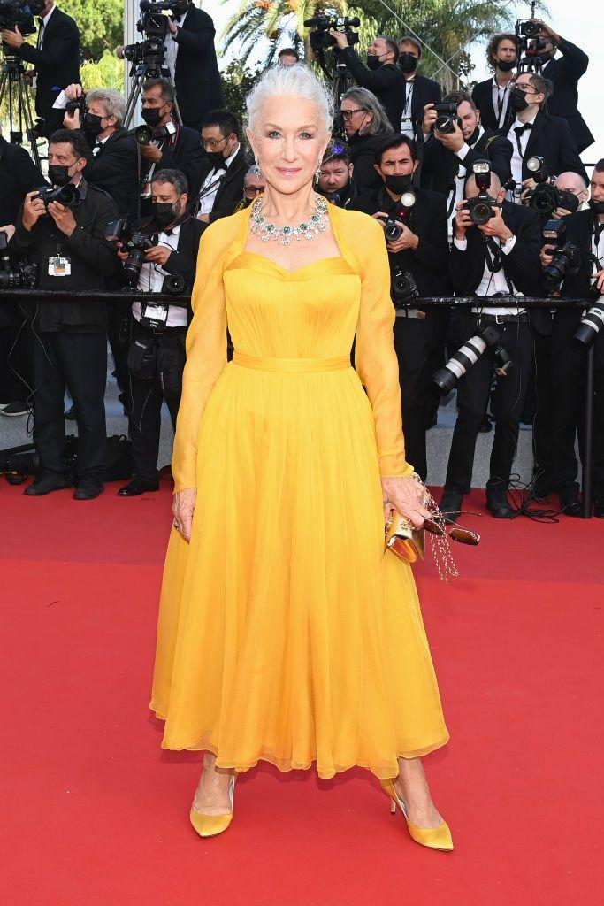 <p>The Brit stunned in a sunshine yellow dress by Dolce & Gabbana. </p>