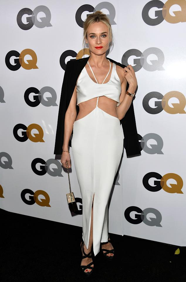 """Inglourious Basterds"" star Diane Kruger's Cushnie et Ochs dress looked held together by a single string."