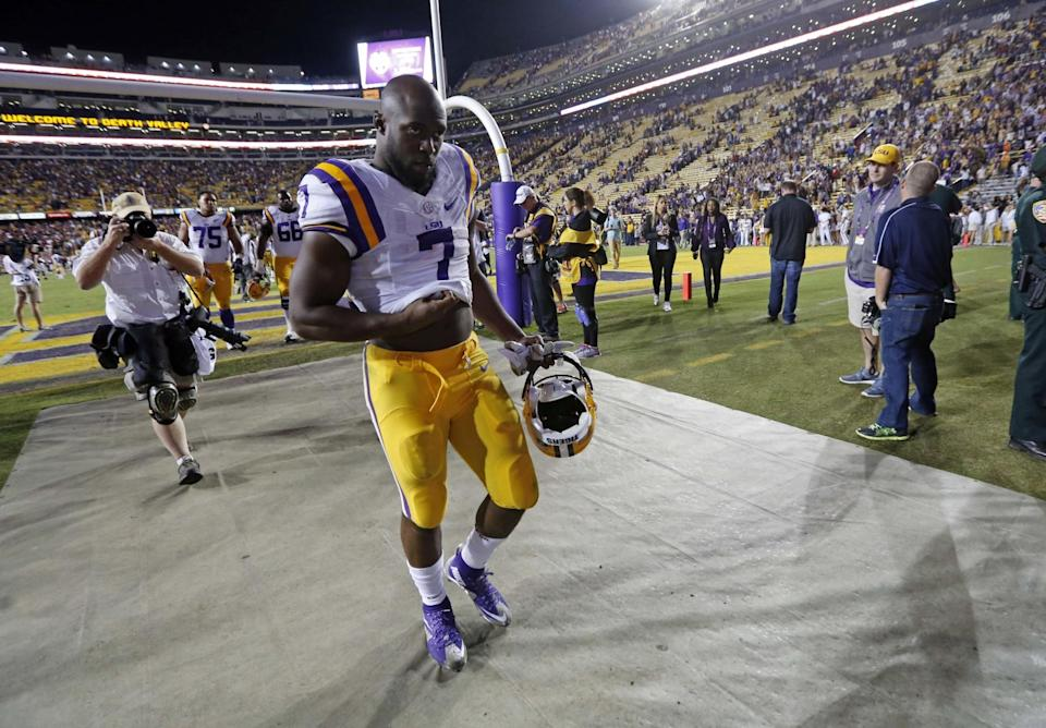 LSU's Leonard Fournette is expected to go high in the 2017 NFL draft. (AP)