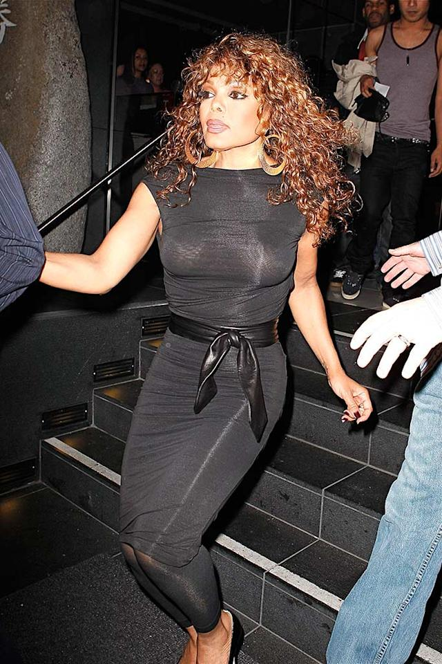 "Janet Jackson celebrated her new album's debut at the top of the Billboard charts with a dinner at Katsuya on Tuesday. ""Discipline"" is the 41-year-old's tenth studio album. <a href=""http://www.splashnewsonline.com"" target=""new"">Splash News</a> - March 4, 2008"
