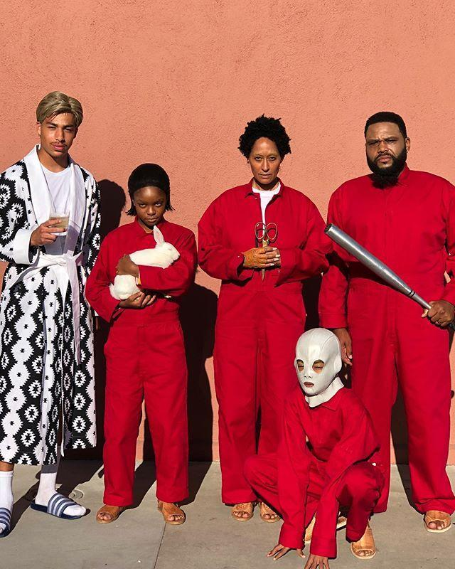 """<p>Get a group of friends together, grab a few red boiler suits and a few key props, and you've got yourself an instantly recognizable costume of The Tethered. If you need to stay extra warm, just add a sweater or long-sleeve underneath, and no one will know.</p><p><a href=""""https://www.instagram.com/p/B4DA3ejF2fT/?utm_source=ig_embed&utm_campaign=loading"""" rel=""""nofollow noopener"""" target=""""_blank"""" data-ylk=""""slk:See the original post on Instagram"""" class=""""link rapid-noclick-resp"""">See the original post on Instagram</a></p>"""