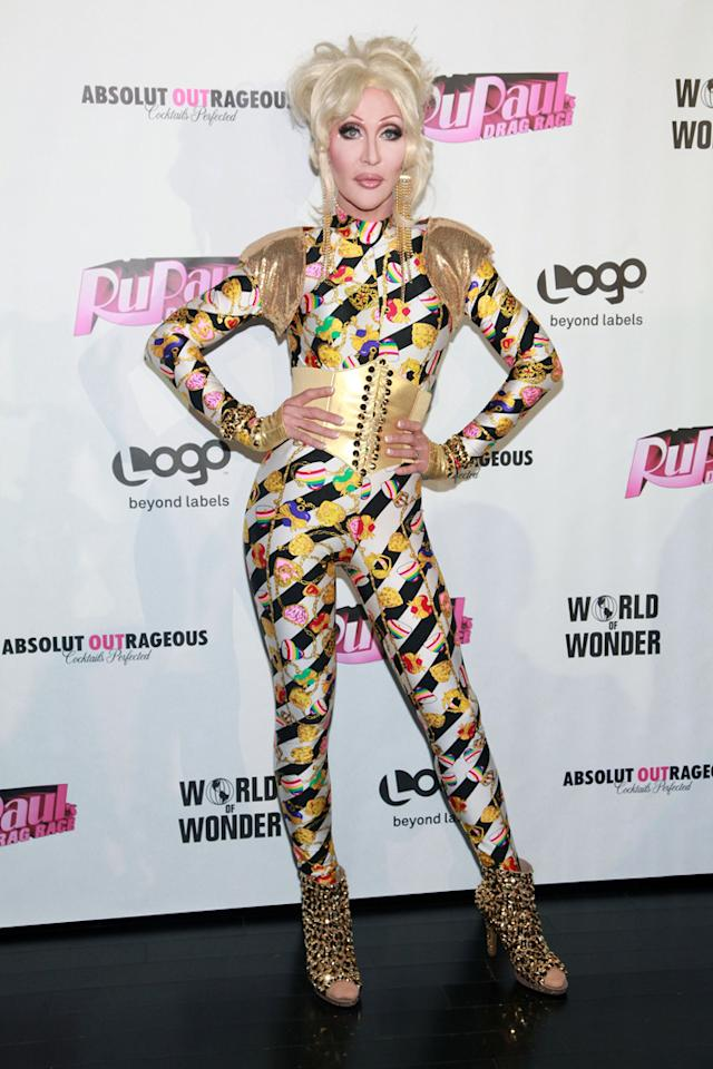 "Chad Michaels attends the ""<a target=""_blank"" href=""http://tv.yahoo.com/rupaul-39-s-drag-race/show/44202"">RuPaul's Drag Race</a>"" Season 4 Finale Viewing Party at XL Nightclub on April 30, 2012 in New York City."
