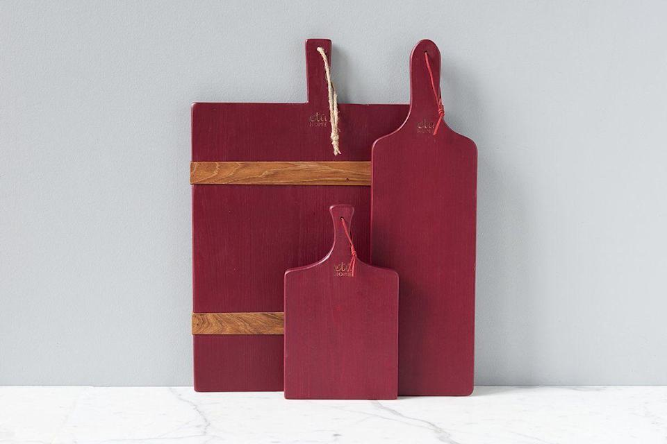 """<p><strong>etúHOME</strong></p><p>etuhome.com</p><p><strong>$39.00</strong></p><p><a href=""""https://etuhome.com/collections/charcuterie-boards/products/merlot-mini-charcuterie-board"""" rel=""""nofollow noopener"""" target=""""_blank"""" data-ylk=""""slk:Shop Now"""" class=""""link rapid-noclick-resp"""">Shop Now</a></p><p>He'll be able to host dinner parties again soon. This cute charcuterie board will be waiting when that time comes. </p>"""
