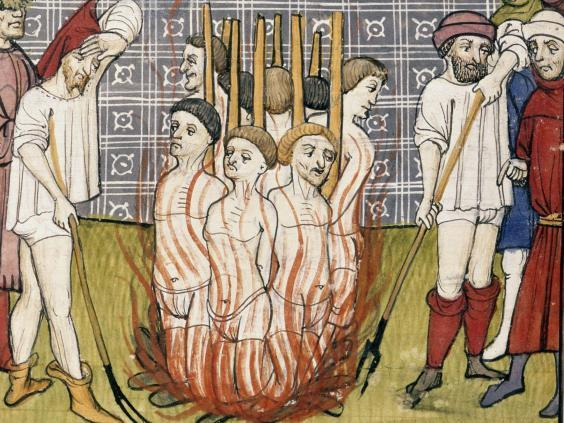 The burning of the Templars ( British Library/Robana/Rex)