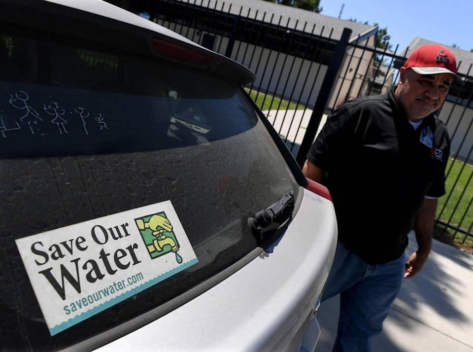 Cesar Carreno, an Earlimart Middle School teacher, is hoping for the best in challenges facing the city's water problems.