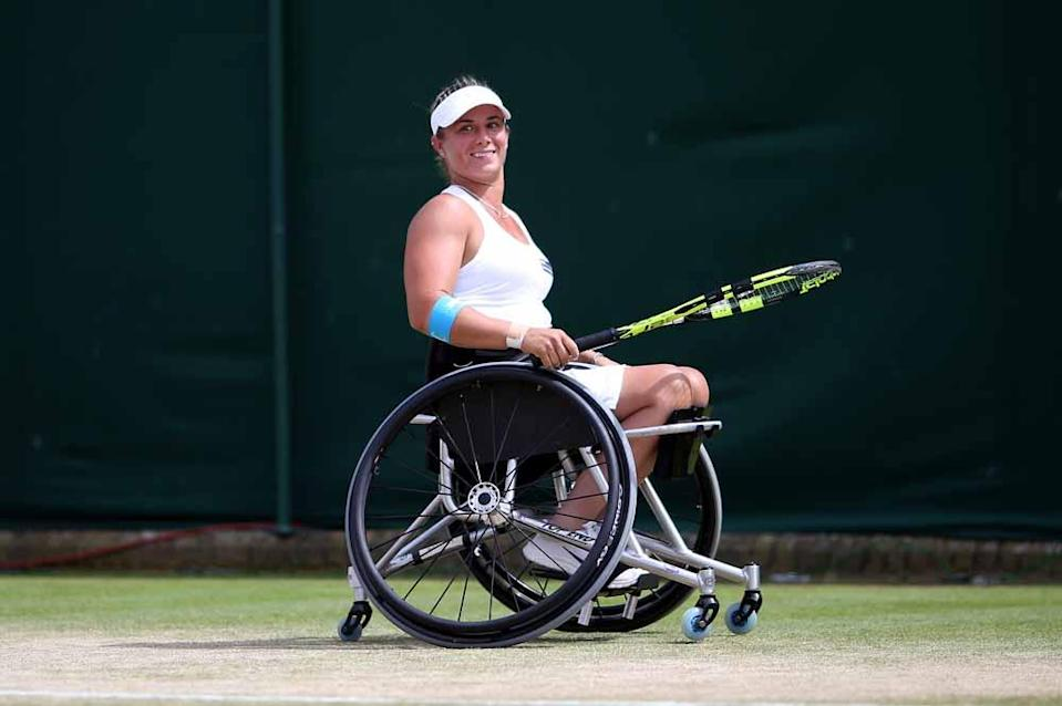 Lucy was told she was too disabled to play wheelchair tennis (Steve Paston/PA).
