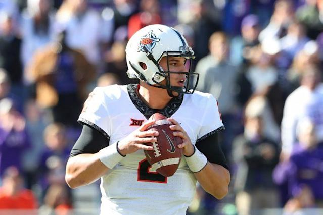 Mason Rudolph and Oklahoma State may have the best offense in the country. (Getty)