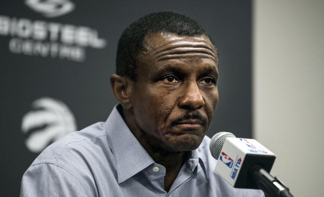 Dwane Casey is a finalist for what would be the most bittersweet awards in basketball. (AP Photo)