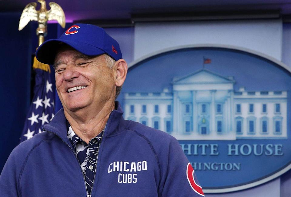 <p>Bill Murray visits the James Brady Press Briefing Room at the White House October 21, 2016 in Washington, DC. Murray is in Washington to receive the 2016 Mark Twain Prize for American Humor at the Kennedy Center on Sunday.</p>