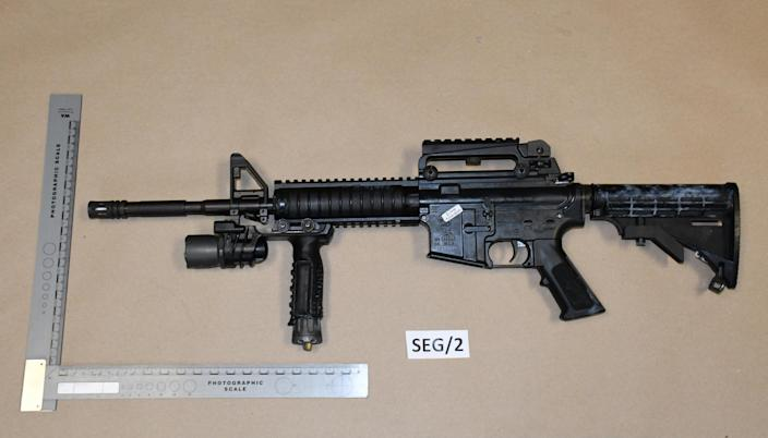 The .22 Colt rifle used in the shooting of Michael O'Leary. (PA/Dyfed Powys Police)