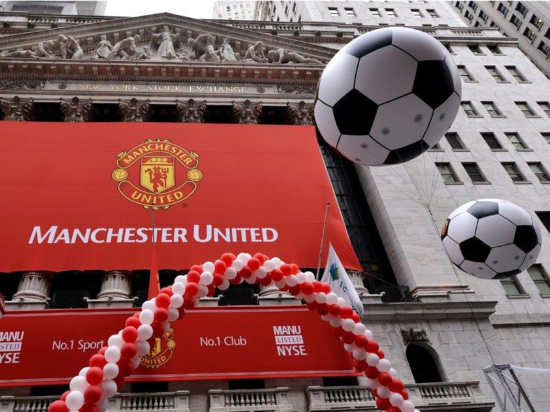 Man United shares flat on New York debut