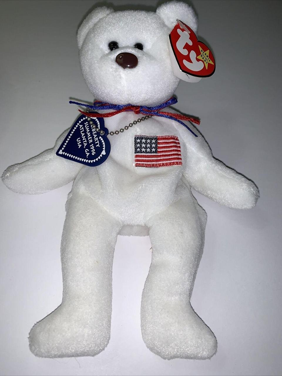 """<p><strong>Ty Beanie Babies</strong></p><p>ebay.com</p><p><strong>$75000.00</strong></p><p><a href=""""https://go.redirectingat.com?id=74968X1596630&url=https%3A%2F%2Fwww.ebay.com%2Fitm%2F303840727655&sref=https%3A%2F%2Fwww.cosmopolitan.com%2Flifestyle%2Fg24162108%2Fmost-expensive-valuable-beanie-babies-collectible%2F"""" rel=""""nofollow noopener"""" target=""""_blank"""" data-ylk=""""slk:Shop Now"""" class=""""link rapid-noclick-resp"""">Shop Now</a></p><p>If I had that much money laying around somewhere, I'd probably shell it out too for this little one for that name alone.</p>"""