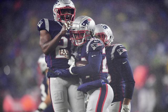 Avoid the Patriots defense at all costs. (Photo by Billie Weiss/Getty Images)