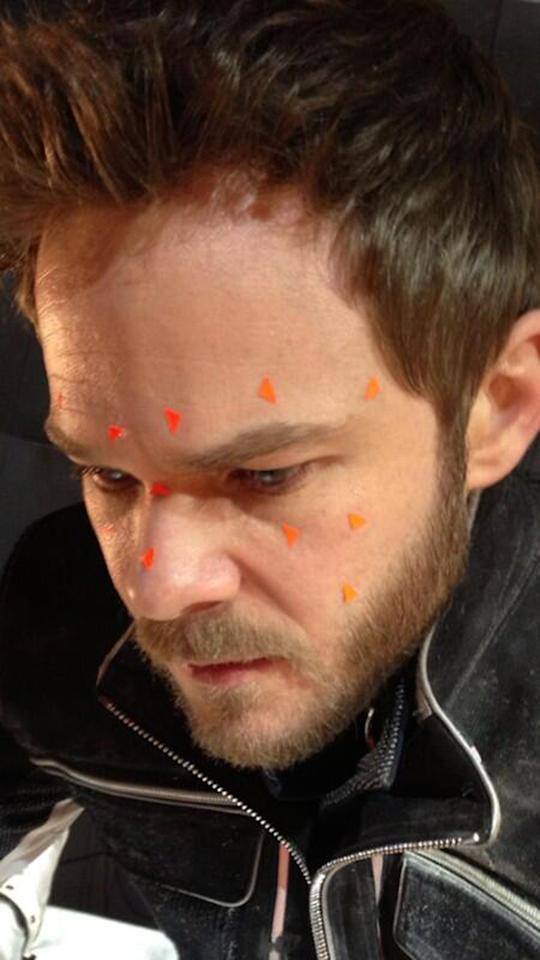 "Shawn Ashmore on the set of ""X-Men: Days of Future Past"""