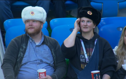 Russian fans - Credit: BBC
