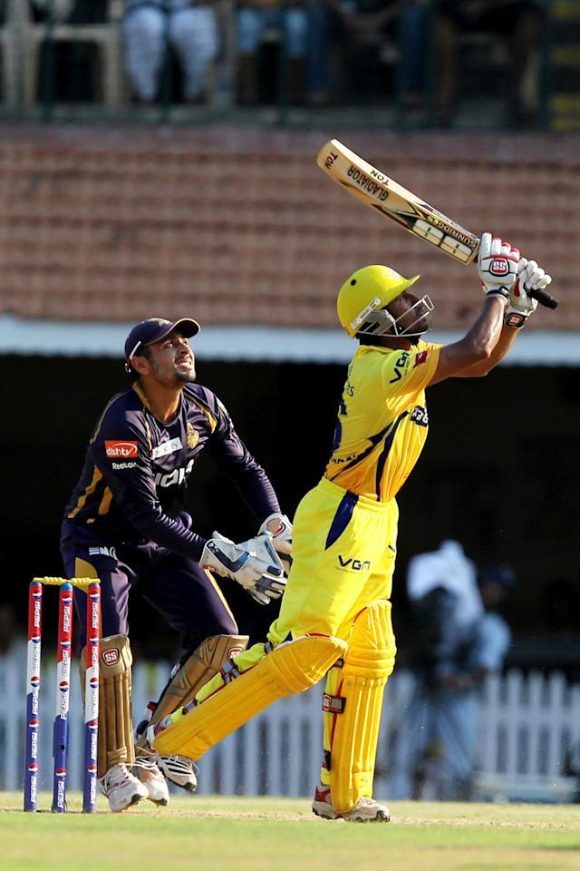 Wriddhaman Saha during match 38 of the Pepsi Indian Premier League between The Chennai Superkings and the Kolkata Knight Riders held at the MA Chidambaram Stadiumin Chennai on the 28th April 2013. (BCCI)