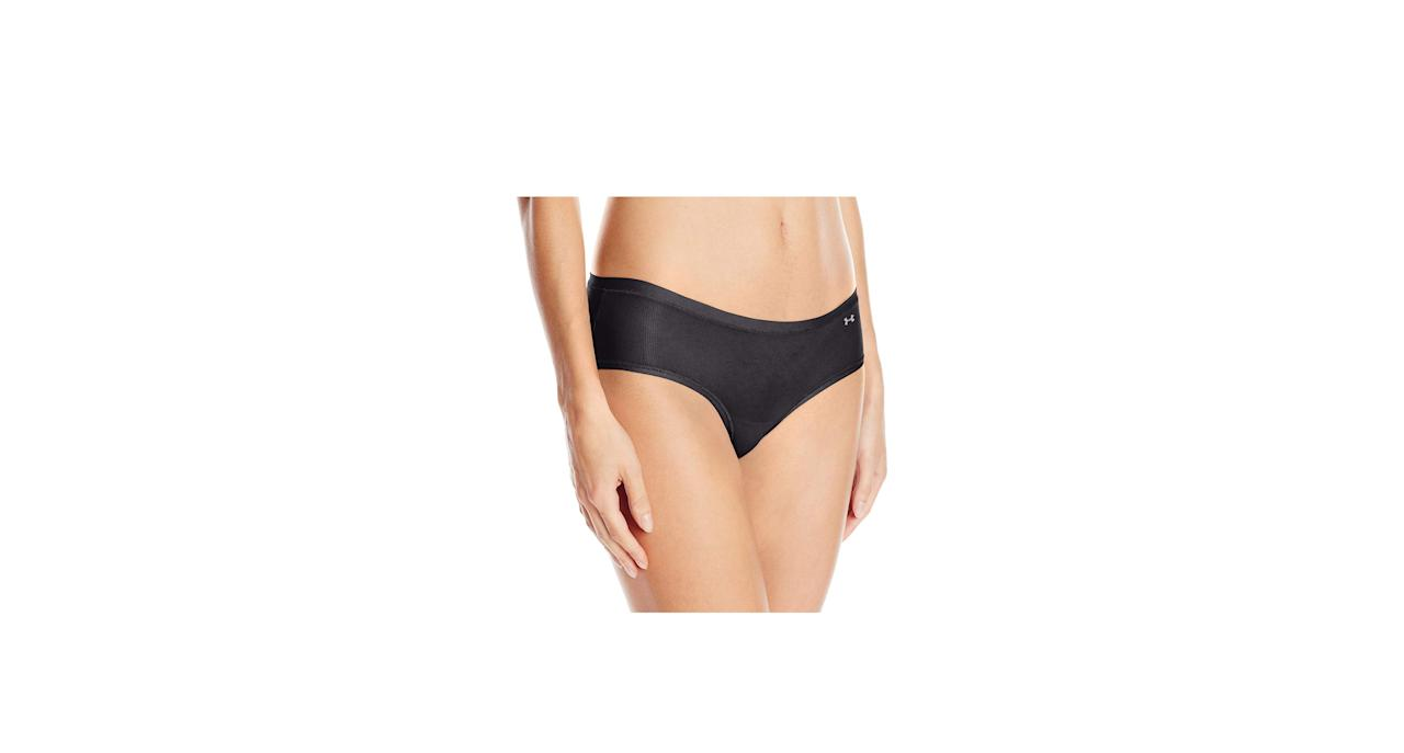 """<p><strong>To buy:</strong> $12, <a href=""""https://www.amazon.com/Under-Armour-Womens-Stretch-Hipster/dp/B019Z2QLV0?ie=UTF8&camp=1789&creative=9325&linkCode=as2&creativeASIN=B019Z2QLV0&tag=healthcom04a-20&ascsubtag=d41d8cd98f00b204e9800998ecf8427e"""" target=""""_blank"""">amazon.com</a></p> <p>""""It's important to remember the vulva is skin,"""" says Taraneh Shirazian, MD, assistant professor in obstetrics and gynecology at NYU's Langone Medical Center. """"If you have sensitive skin, then things you put on or around that area topically can make you feel uncomfortable, cause a reaction, or cause itching."""" That includes underwear, she says, and if your vagina feels uncomfortable, it may actually just need new undies. We like this sporty pair from Under Armour, which will also keep your vulva dry during workouts, since soggy panties are one of your vagina's worst enemies.</p> <p><strong>RELATED: <a href=""""https://www.health.com/sexual-health/vagina-workout"""">How Your Favorite Workout Is Messing With Your Vagina</a></strong></p>"""