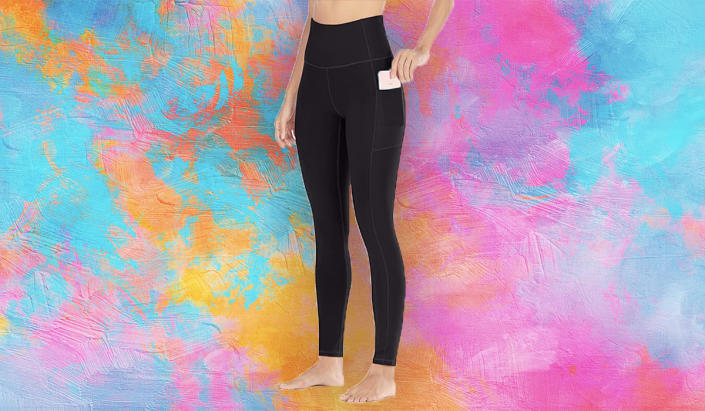 Amazon's No. 1 best-selling leggings are on sale, and you'll love them. (Photo: Amazon)