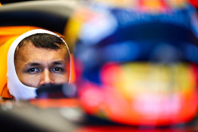"Alex Albon, Red Bull Racing RB16 <span class=""copyright"">Red Bull Content Pool</span>"