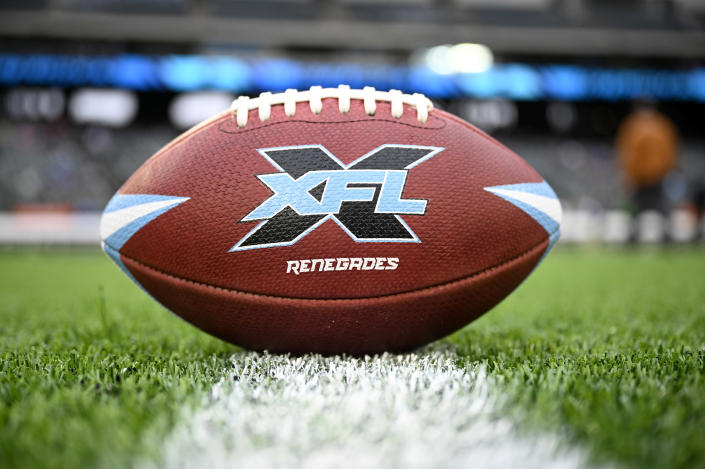 """Dwayne """"The Rock"""" Johnson is the new co-owner of the XFL. (Photo by Andrew Hancock/XFL via Getty Images)"""