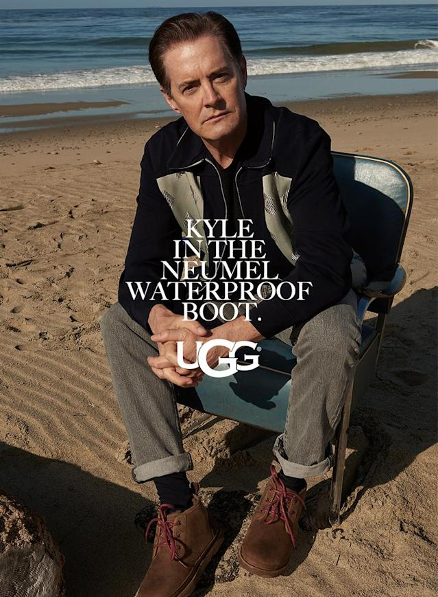 <p>A close-up of Kyle MacLachlan for Ugg. (Photo: Courtesy of Frederic Auerbach/Ugg) </p>