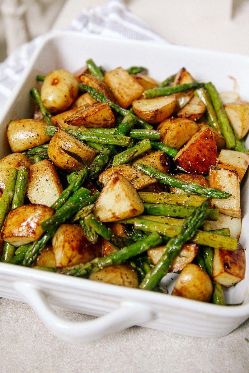 "<p>This flavorful, hearty comfort food will certainly be adored by vegans and non-vegans alike. </p><p><a href=""http://wallflowerkitchen.com/balsamic-roasted-new-potatoes-asparagus/"" rel=""nofollow noopener"" target=""_blank"" data-ylk=""slk:Get the recipe from Wallflower Kitchen »"" class=""link rapid-noclick-resp""><em>Get the recipe from Wallflower Kitchen »</em></a></p>"