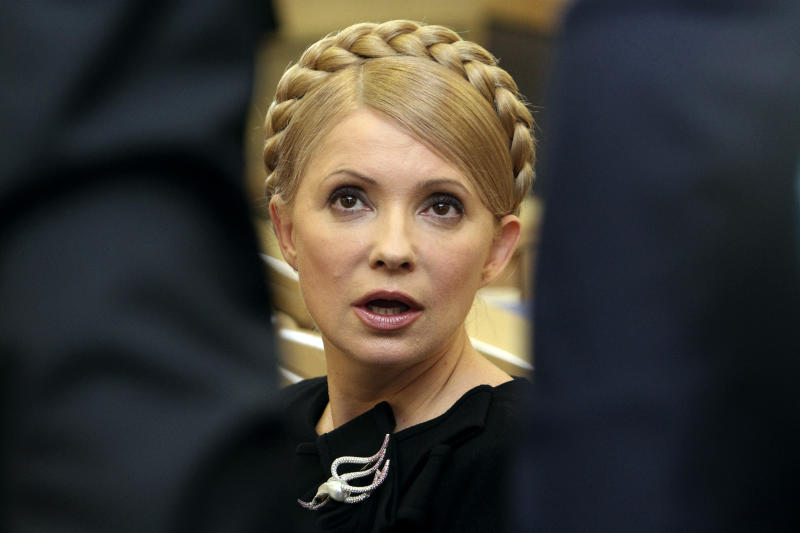 Ukrainian Prime Minister Yulia Tymoshenko speaks during a session of the Higher Administrative Court in central Kiev February 19, 2010. Tymoshenko launched a court appeal on Friday aimed at blocking the inauguration of President-elect Viktor Yanukovich and forcing a fresh vote for president. REUTERS/Konstantin Chernichkin (UKRAINE - Tags: POLITICS CRIME LAW ELECTIONS IMAGES OF THE DAY)
